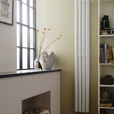 Double Tube Radiator White And Anthracite