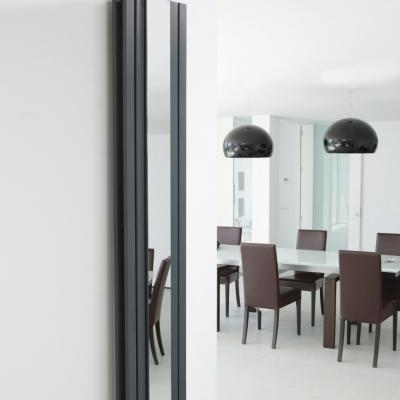 Flat Panel Radiator With Inset Mirror