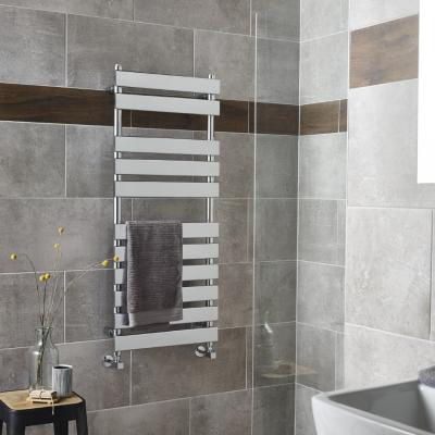 Horizontal Slat Radiator Chrome