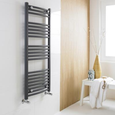 Towel Radiator Graphite White And Chrome