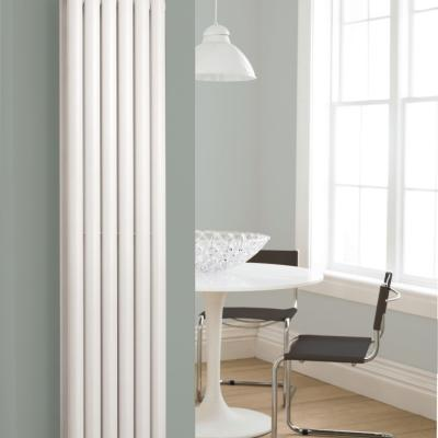 Vertical Double Tube Radiator White